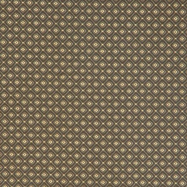 Green Gold Diamond Dobby Weave Fabric