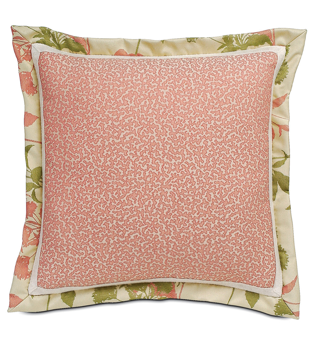 "20""x20"" Gemma Coral Indoor Outdoor Luxury Pillow Cover"