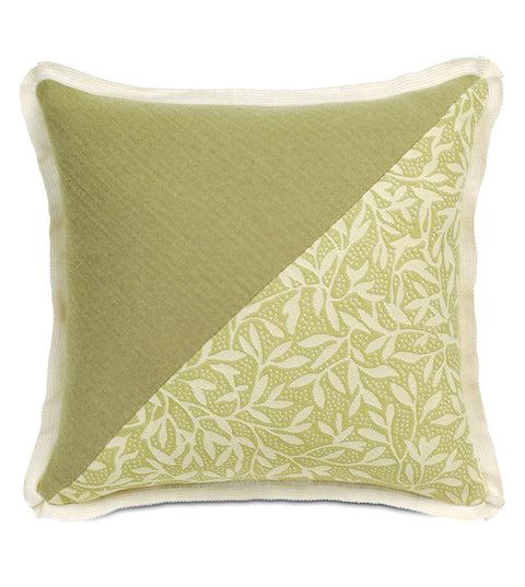 "14""x14"" Gemma Spring Green Indoor Outdoor Luxury Pillow Cover"