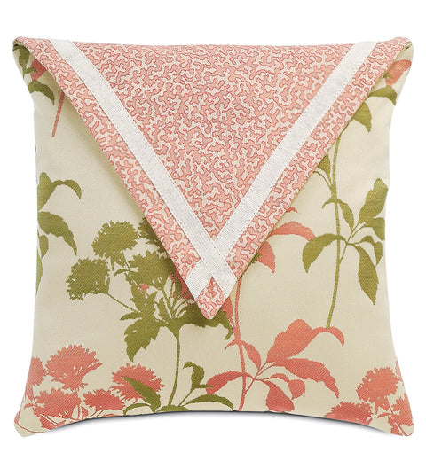 "16""x16"" Gemma Coral Envelope Indoor Outdoor Luxury Pillow Cover"