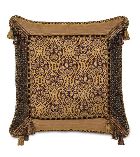 "Maison Sienna Mitered Border Decorative Pillow Cover 20"" x 20"""