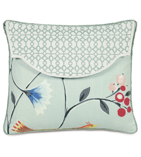 "Gwenyth Envelope Floral Decorative Pillow Cover 15"" x 18"""