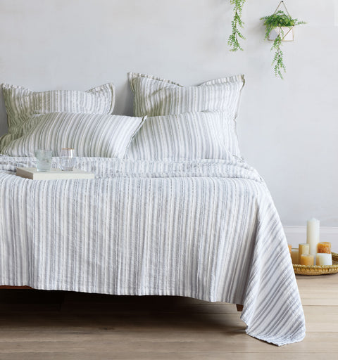 Grant Stone Gray Coverlet