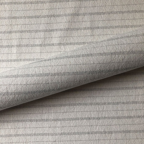 White French Provincial Stripe Linen Upholstery Fabric 54""