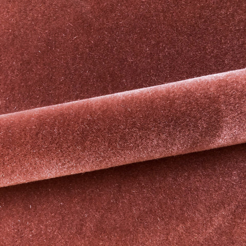 "Modern Solid Mohair Upholstery Fabric 54"" in Brick Red"