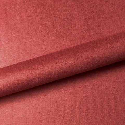 Cherry Red Solid Felt Upholstery Fabric 54""
