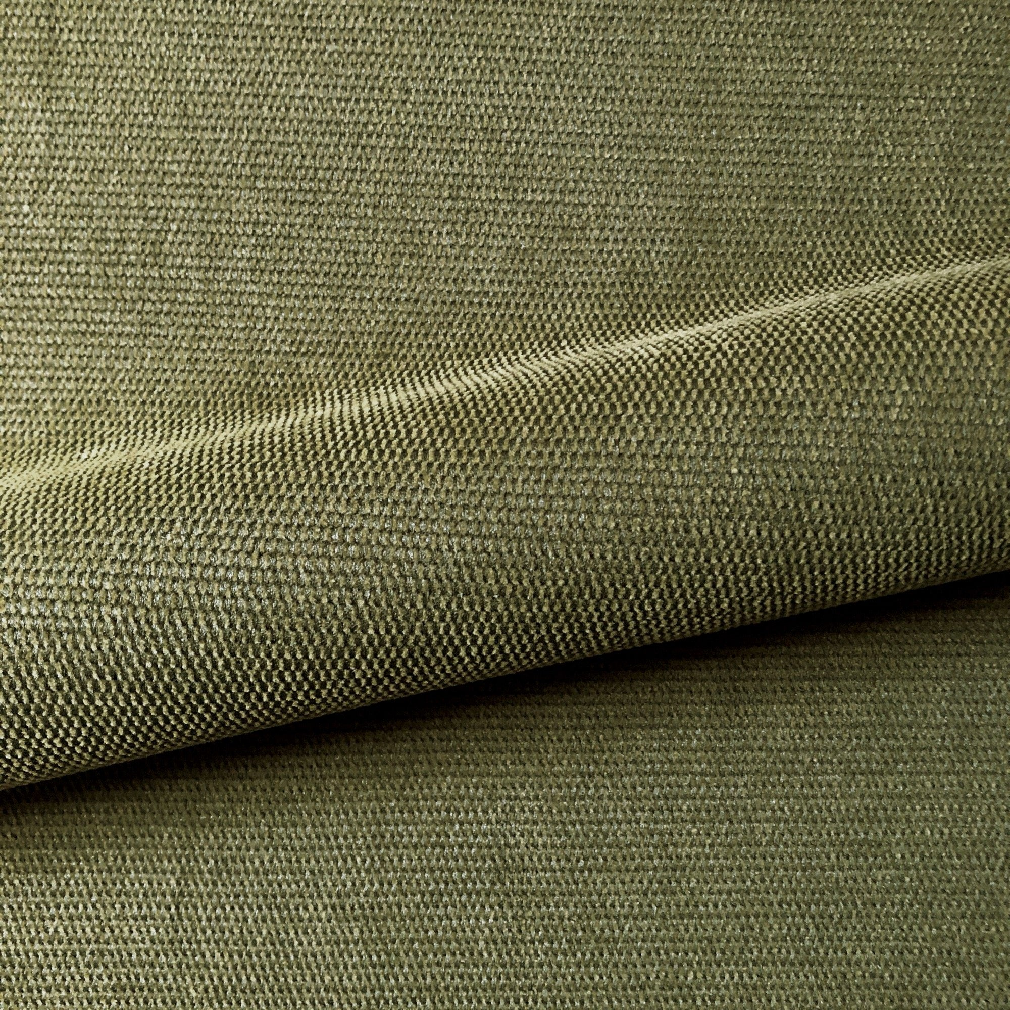 sell by the yards cotton slight pattern woven Olive Green detail  Brown and white The Chiang Mai native cotton fabric woven