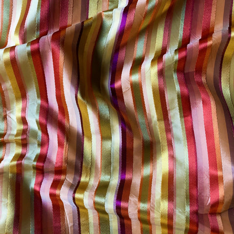 Festive Autumn Ribbon Stripe Upholstery Fabric 54""