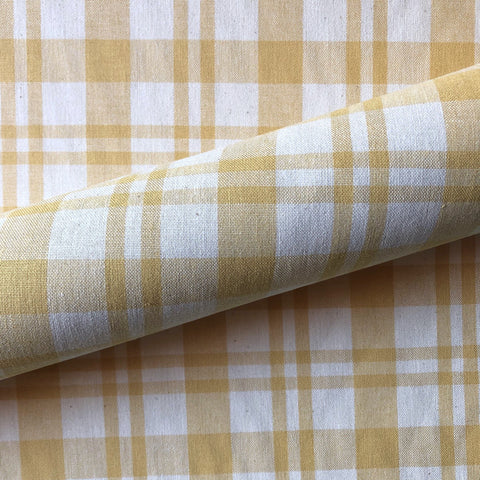 Butterscotch American Decor Plaid Canvas Upholstery Fabric 54""