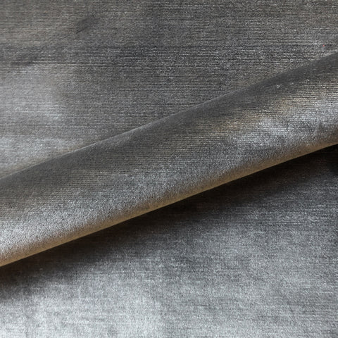 Graphite Industrial Solid Textured Velvet Upholstery Fabric 54""