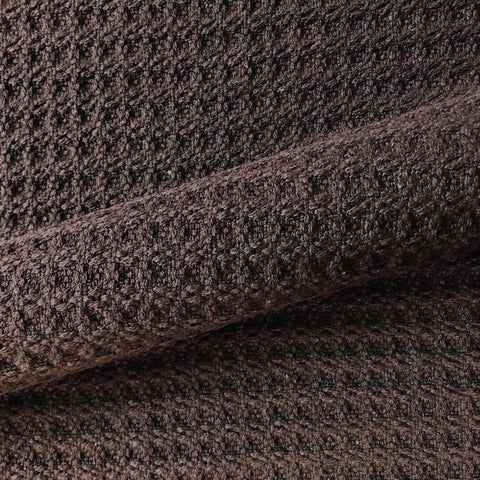 Chocolate Brown Honeycomb Textured Cotton Upholstery Fabric 54""