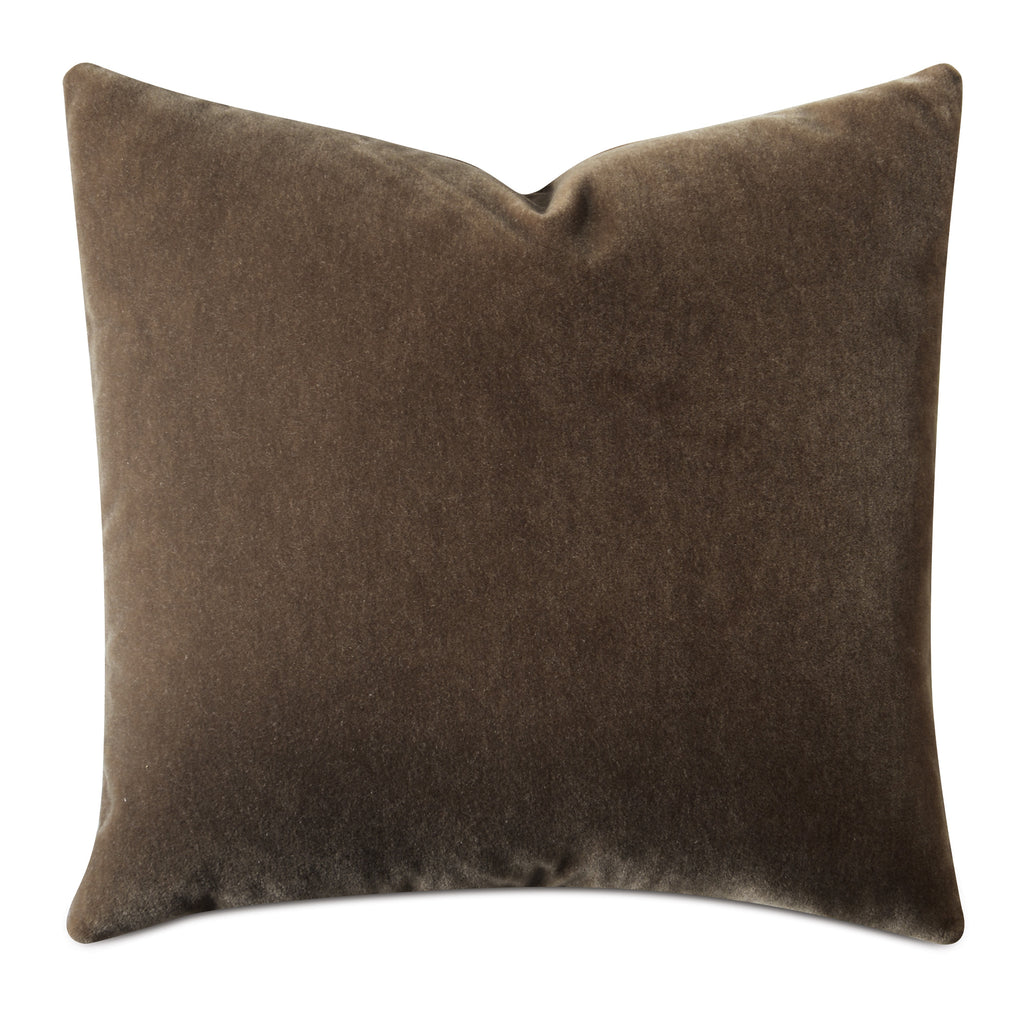 Hazelnut Brown Luxury Mohair Decorative Pillow Cover