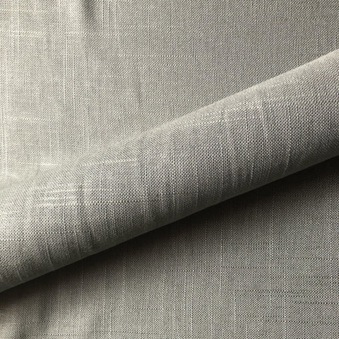 Light Gray Masculine Solid Linen Upholstery Fabric 54""