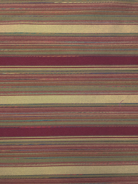 Burgundy Woven Stripe Upholstery Fabric