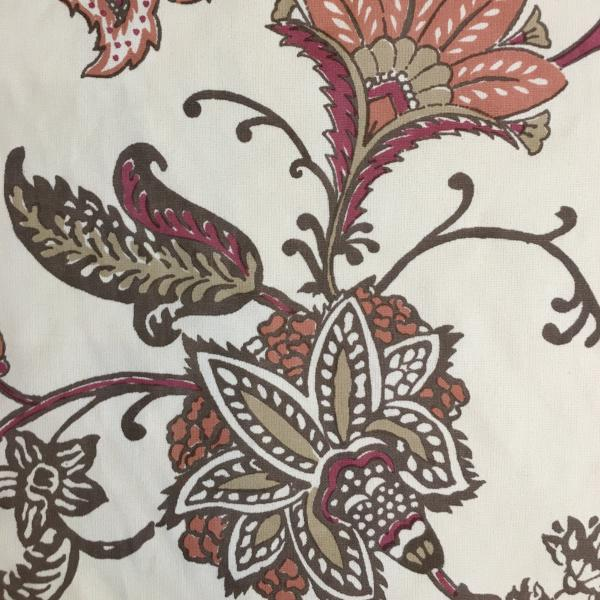 Fall Botanical Print Upholstery Fabric