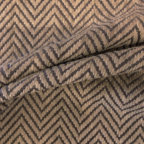 Brown Beige Chevron Weave Fabric