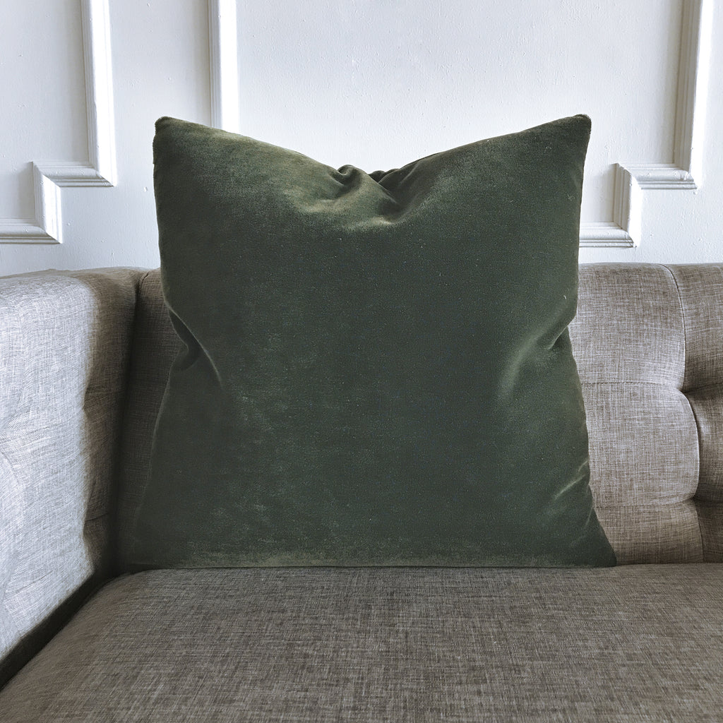 Emerald Green Luxury Mohair Euro Sham Cover Verdiche Plankroad Home Outlet