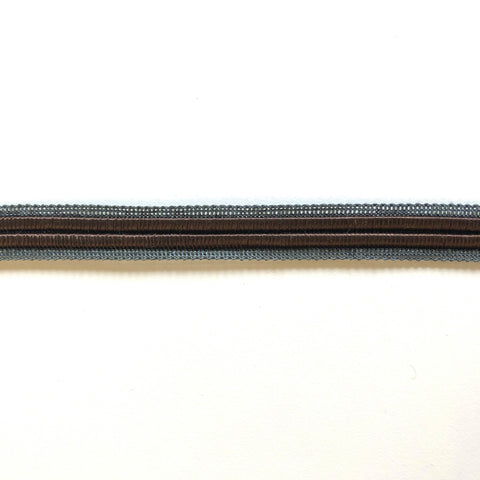 Chocolate Brown and Blue High Quality Decorative Border Trim by the yard
