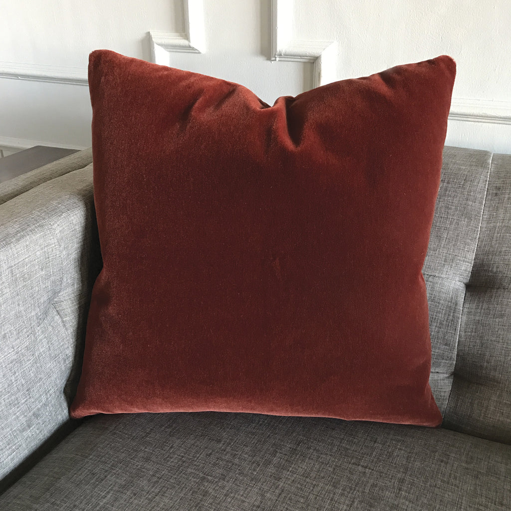 Mohair Pillows Tagged Burnt Orange Plankroad Home Outlet