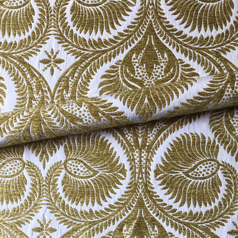 Opulent Gold Damask Brocade Upholstery Fabric 54""