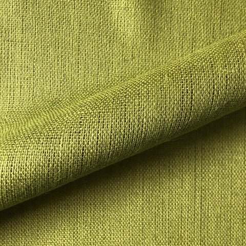 Retro Chartreuse Burlap Upholstery Fabric 56""
