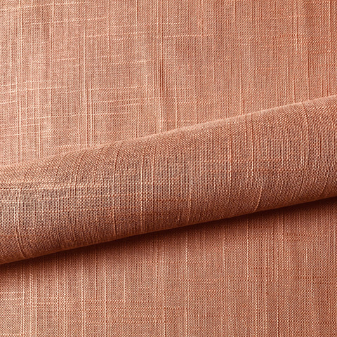 Retro Peach Solid Linen Upholstery Fabric 54""