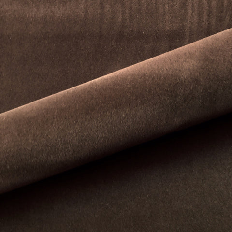 "Modern Solid Lightweight Velvet Upholstery Fabric 54"" in Brown"