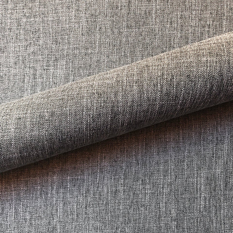 Gray Menswear Light Semi-Sheer Linen Upholstery Fabric 54""