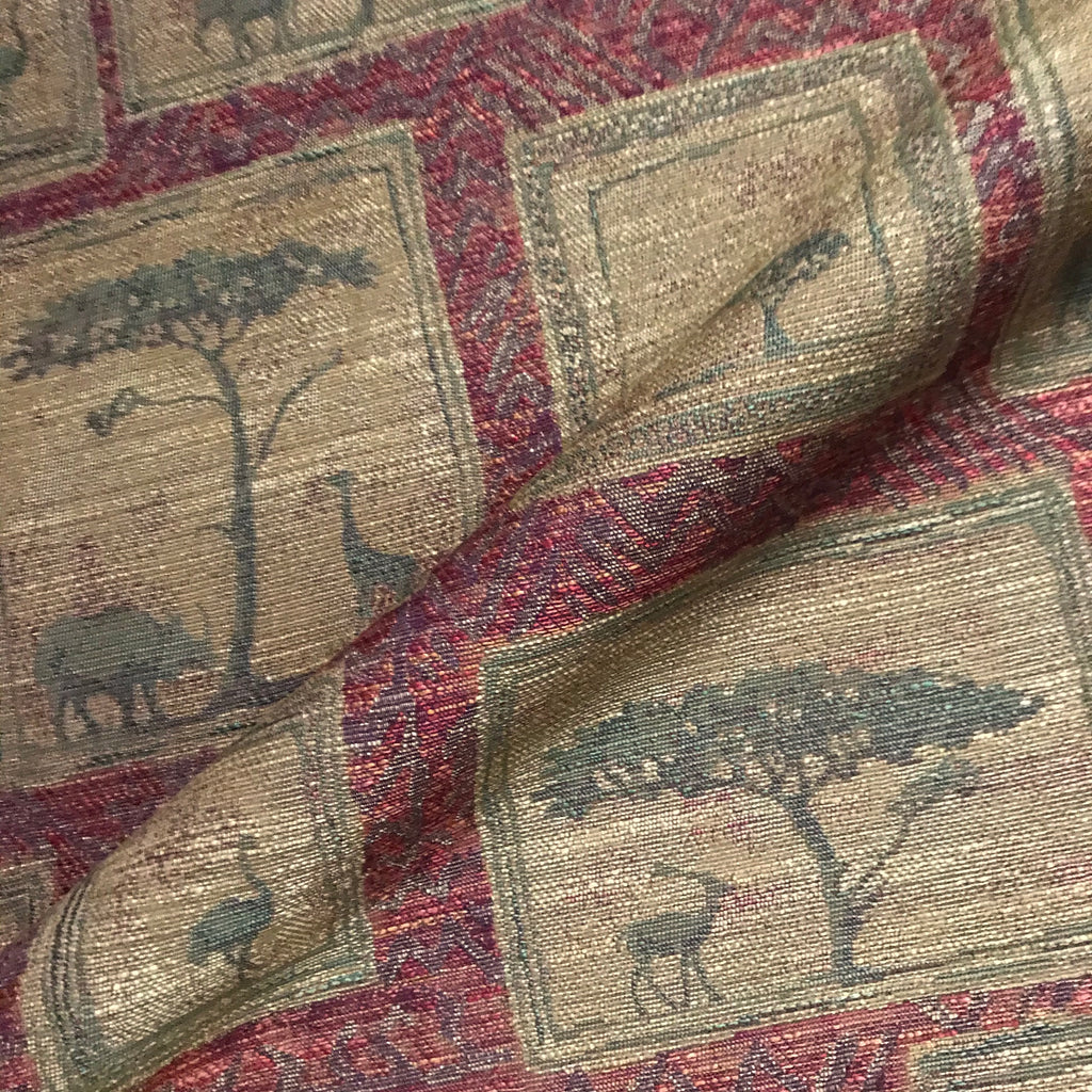 Royal Kingdom African Landscape Woven Upholstery Fabric - 54""