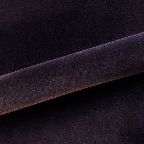 "Modern Solid Mohair Upholstery Fabric 54"" in Eggplant"