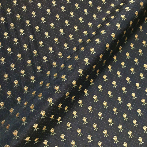Black Gold Glam Embroidered Home Decor Fabric - 54""