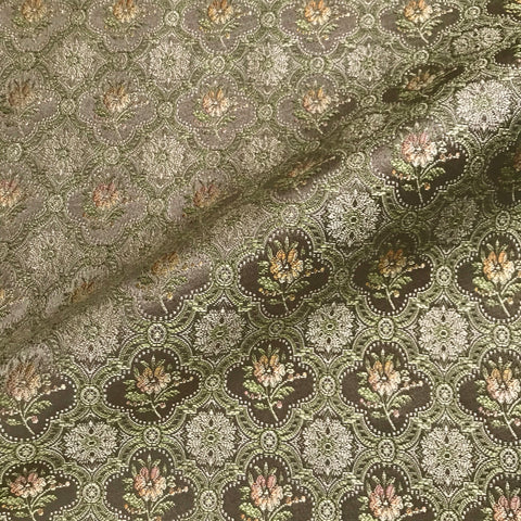 Copper Amaryllis Lightweight Floral Upholstery Fabric - 54""
