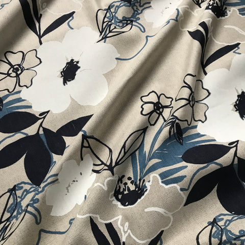 Whitehaven Ink Cotton Linen Blend Home Decor Fabric - 54""