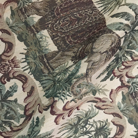 Senegal Tropical Elephant Print Cotton Upholstery Fabric - 54""