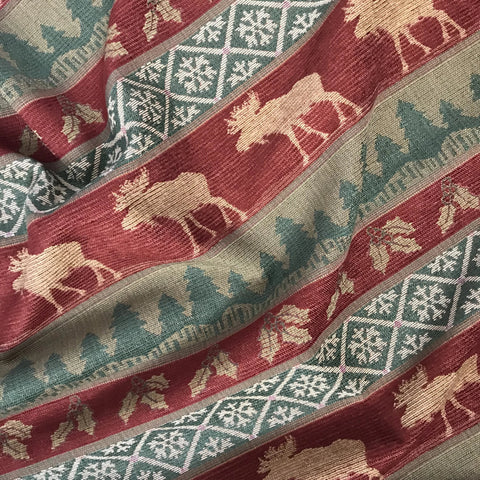 Balsam Moose Lodge Jacquard Woven Upholstery Fabric - 54""