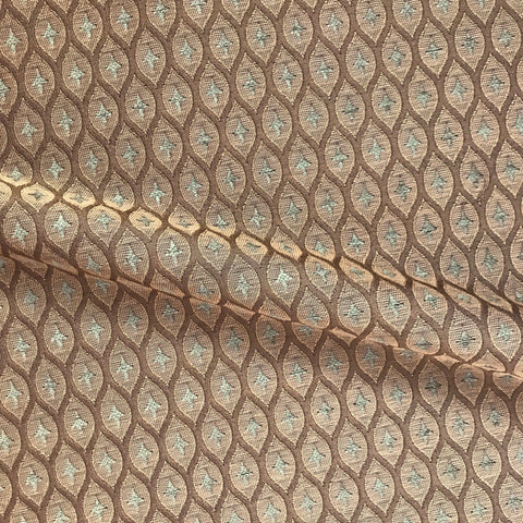 Brown Acre Maple Embroidered Jacquard Fabric - 54""