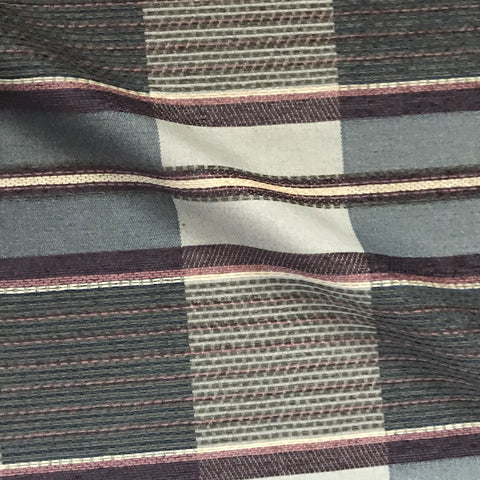 Blue Gray Glen Check Upholstery Fabric - 54""
