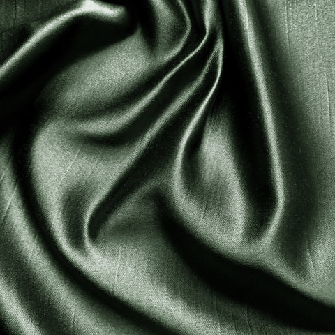 "Upholstery Grade 100% Real Silk Fabric 54"" in Forest Green"