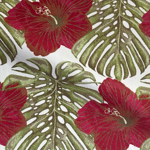 Philodendron Leaf Woven Floral Upholstery Fabric - 54""