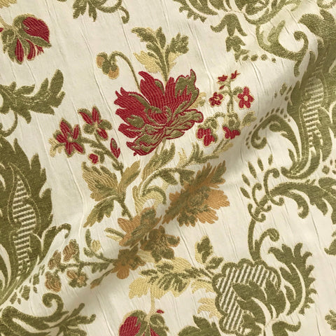 Classic Floral Brocade Upholstery Fabric - 54""