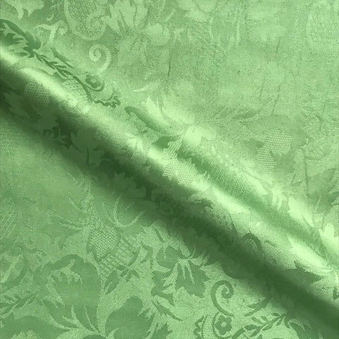 Green Tonal Floral Jacquard Upholstery Fabric - 54""
