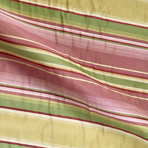 Pink Citron Luxury Stripe Upholstery Fabric - 54""