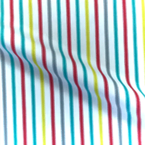 Multicolored Sherbet Stripe Cotton Upholstery Fabric - 54""