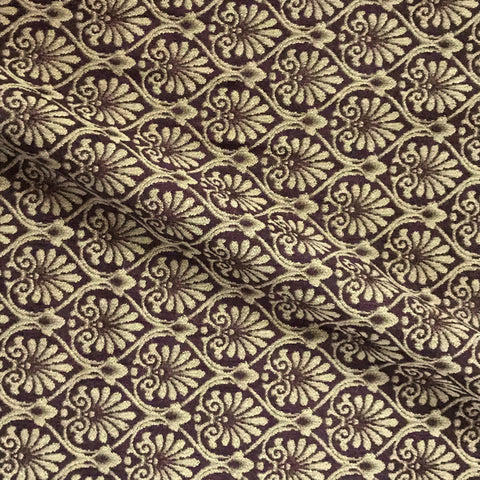 Ennis Brown Bronze Jacquard Upholstery Fabric - 54""