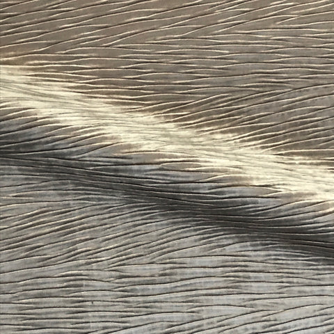 Metallic Fawn Pleat Textured Home Decor Fabric - 54""