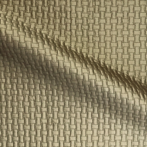 Gold Art Deco Geometric Weave Silk Upholstery Fabric 50""