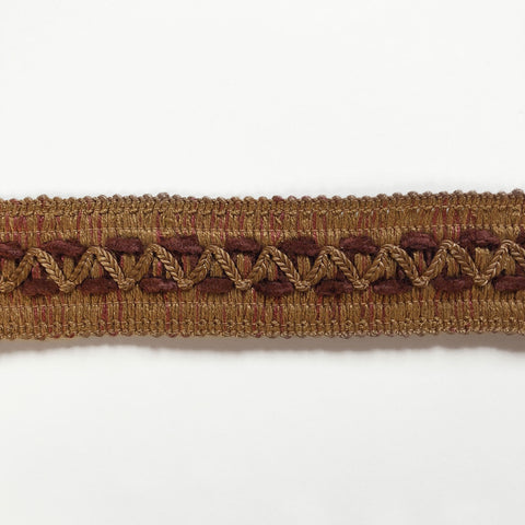 Light Brown and Mauve High Quality Decorative Gimp Trim by the yard
