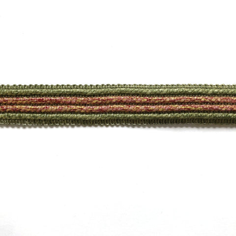Green and Pink High Quality Decorative Border Trim by the yard