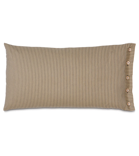 "Bailey Heirloom King Sham Cover in Pepper 21"" x 37"""