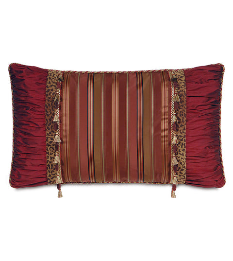 "Elizabeth Luxe Red King Sham 21"" x 37"""